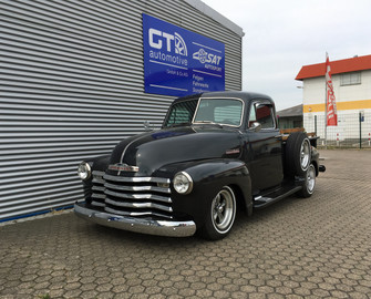 echte t v eintragung chevrolet pick up baujahr 1953 umbau auf v8 motor gt automotive gmbh co kg. Black Bedroom Furniture Sets. Home Design Ideas